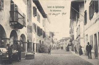 Spilimbergo, commercio in via Indipendenza 1910